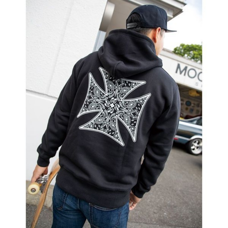 MOON Equipped Paisley Cross Hoodie [MQS150]
