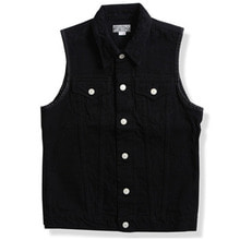 DEAN VEST DENIM (14.75oz) BLACK