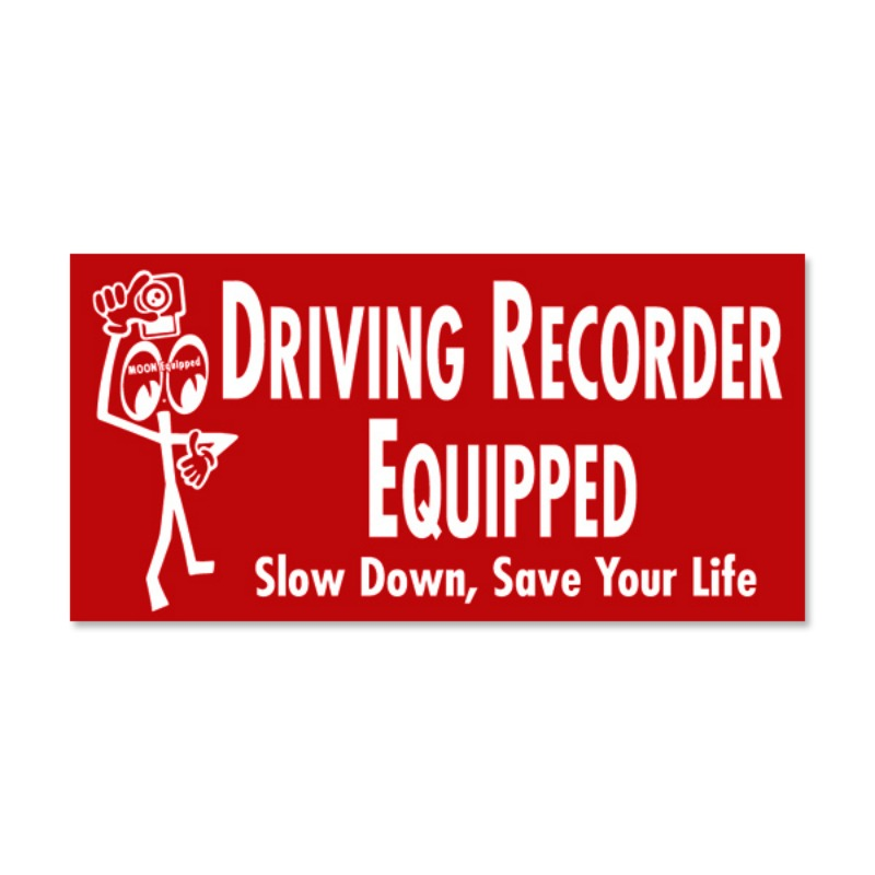 Driving Recorder Equipped Sticker [MQD035RD]