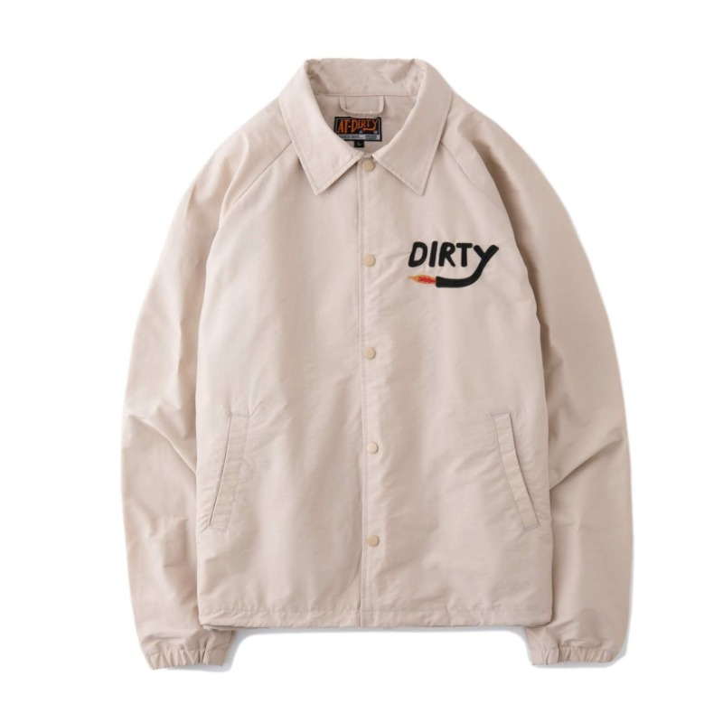 DIRTY FIRE COACH JACKET (NATURAL)