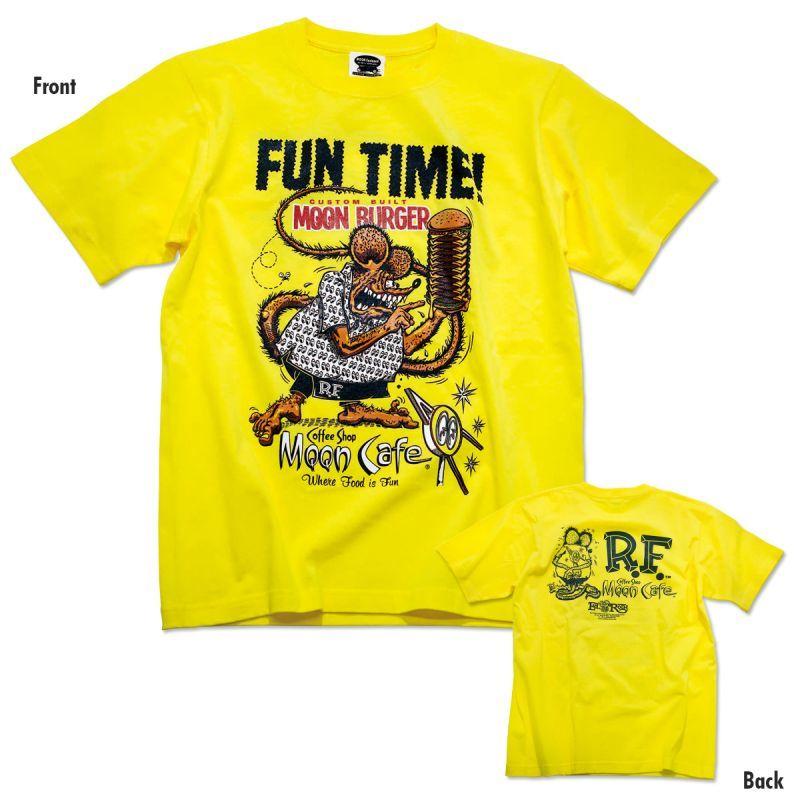 Rat Fink x MOON Cafe Fun Time T-shirt [MQT155YE]