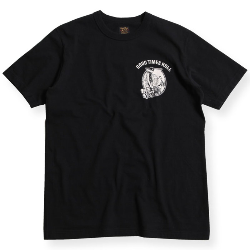 "PRINTED TEE #20-07 BLK ""G.D.W DESIGN"""